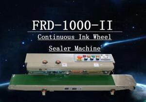USED FRD-1000II Horizontal INK wheel coder Continuous Bag Sealing Machine 110v  (Item# 181017-1)