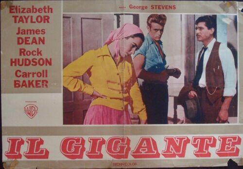 GIANT Italian fotobusta movie poster 1 1956 ELIZABETH TAYLOR JAMES DEAN