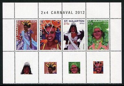 Sint Maarten 2012 Karneval Carnival Kostüme Folklore Postfrisch - Folklore Kostüme