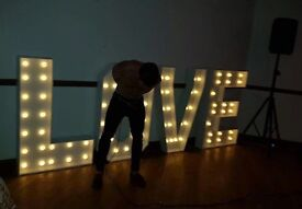 LOVE LETTERS 4ft led to hire for weddings / engagement party