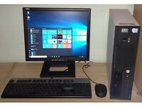 Fujitsu Windows 10 Pro PC Computer/WIFI/2GB RAM/80GB/Monitor