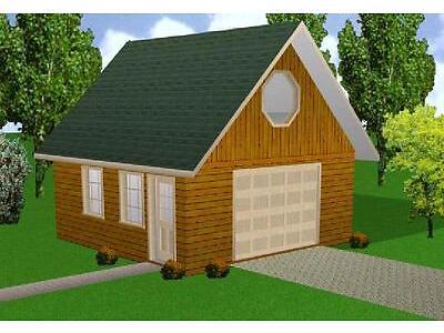 20x20 Garage w/Loft Plans Package, Blueprints, Material List