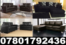 LEATHER FABRIC CORNER OR 3+2 SOFAS ALL NEW AND UNDER £250 CALL NOW TO ORDER 39322