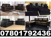 LEATHER FABRIC CORNER OR 3+2 SOFAS ALL NEW AND UNDER £250 CALL NOW TO ORDER 2769