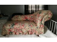 Vintage Small Chaise Lounge Window Seat