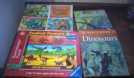 Dinosaur books and jigsaws