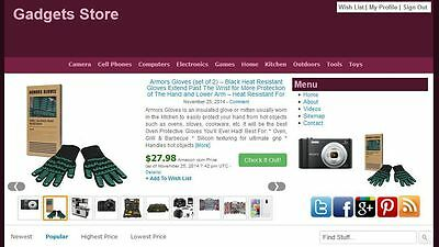 Gadgets Store Automated Amazon Affiliate Website Make Money Free Hosting