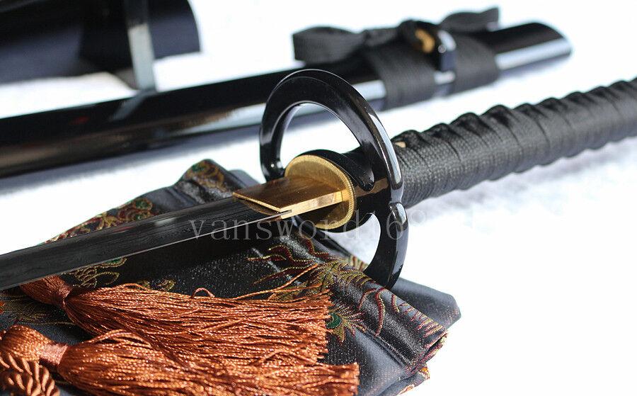 hand forged damascus steel japanese samurai real sword katana sharp blade.