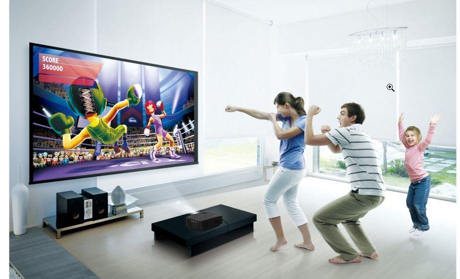 Stereo 5.1 Watt HD Projector Automatic Projection Screen Sony Blu-ray DVD Sound