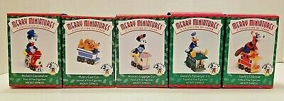 *COMPLETE Set of 5 NEW* Hallmark Ornament Merry Miniatures Mickey Express 1998