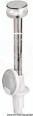 Lichtmast Licht (LED Lampenmast Rundumlicht Ankerlicht Lampenmast  mit Edelstahl-Halterung Boot)