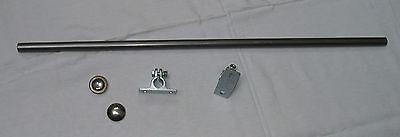 Achse Welle mit Zubehör 1200 mm ø 12 mm für Bollerwagen Kappen Edelstahl