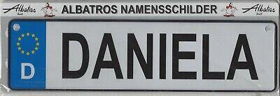 NAMENSSCHILD Autokennzeichenform MINI Bj/örn Albatros