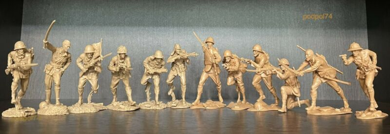 PLASTIC PLATOON Japanese soldiers WW2 Toy soldiers 1:32 New 2 sets