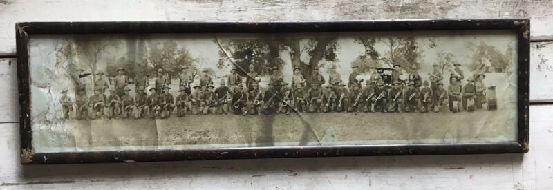 1918 WWI MILITARY PHOTO CAMP FREMONT CALIFORNIA ORIGINAL PHOTO /13 D army band