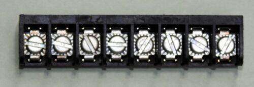1 lot of 8pcs RDI 6PCV-08 PCB mount 8 place barrier strip with 6-32 screws