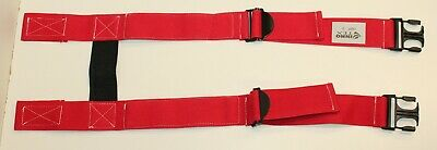 Nos Firefighter Suspenders Red Padded H Style Inno Tex Hbp-s Turnout Gear