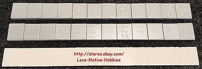 HO Model Railroad Train 1/4 Oz CAR WEIGHTS Adhesive Back LEAD FREE Iron 36 PIECE