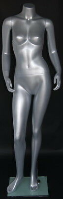 5 Ft 4 In H Female Headless Mannequin Silver Color New Style Mannequin Stw006st