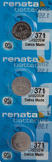 3 x Renata 371 Watch Batteries, SR920SW Battery | Shipped from USA