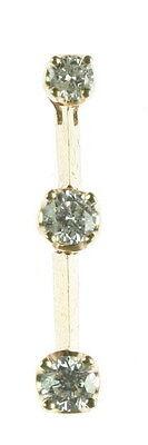 Ladies 3 Stone Diamond Journey Pendant 14K Yellow Gold 065-357