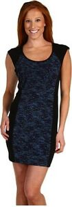 BCBGeneration-BCBG-Front-Pin-Tuck-Dress-Blue-Black-Night-Dress-Mini-Navy-New