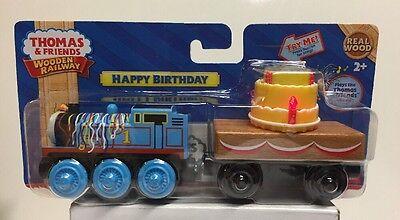 Thomas & Friends Wooden Railway Happy Birthday Thomas With Lights & Music , NEW
