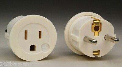 Plug Adapter - European Asian Schuko Plug Adapter USA to Europe / Asia
