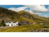 YHA Snowdon Pen-y-Pass Working holiday 8-12 January 2018