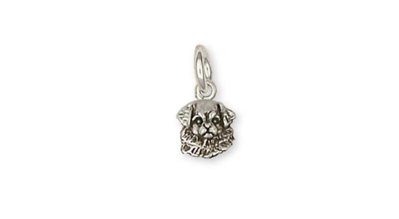 Tibetan Spaniel Charm Handmade Sterling Silver Dog Jewelry TS2-C