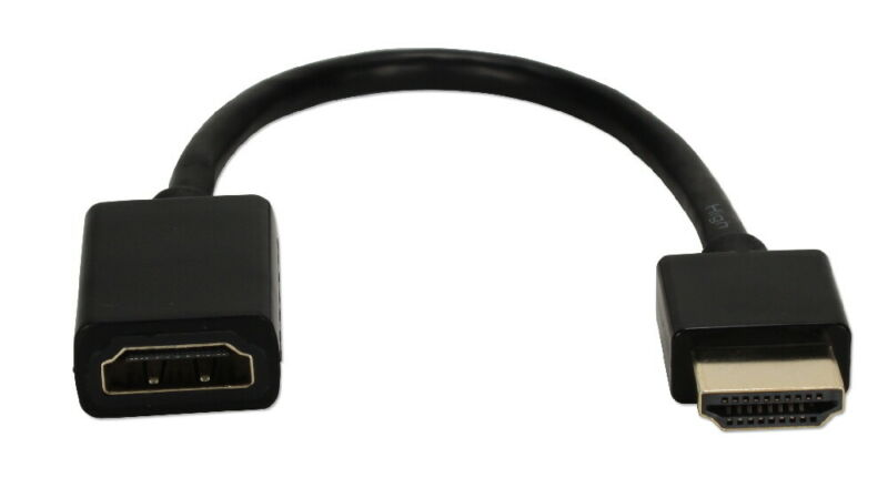 0.5ft High Speed HDMI UltraHD 4K with Ethernet Thin Extension Cable