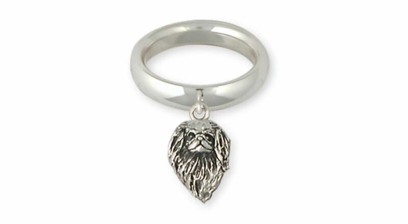 Japanese Chin Ring Jewelry Sterling Silver Handmade Dog Ring JC9-CR