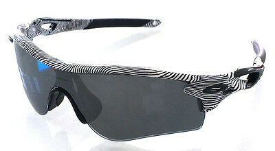 Oakley 9181 44 Radarlock Weg Weiß Fingeprint Black Iridium Polarized Lunettes