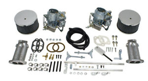 EMPI 43-4430 DUAL 40MM KADRON STYLE CARBURETOR KIT W/ TWIST LINKAGE VW BUG BUGGY