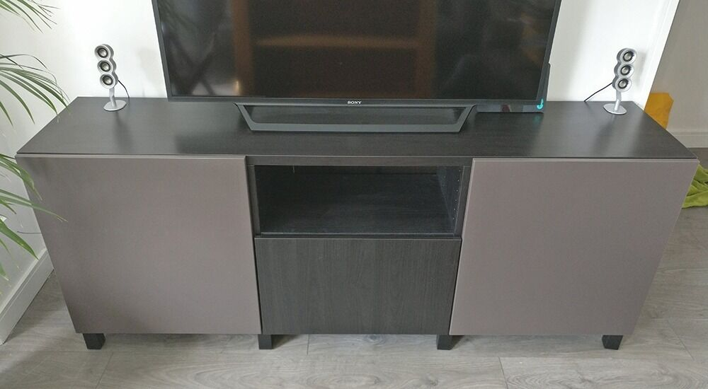 ikea besta tv unit with doors and drawer in lewisham london gumtree. Black Bedroom Furniture Sets. Home Design Ideas