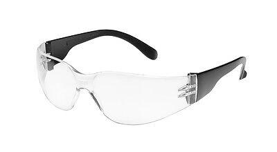 Schutzbrille CHAMP mit klaren, rahmenlosen Gläsern und schwarzen Bügeln