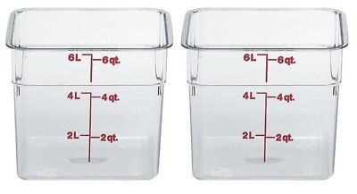 Cambro 6sfscw135 Camsquare Food Storage Containers Set Of 2 6-quart