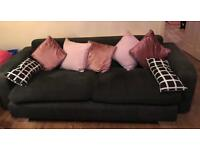CHARCOAL SOFA 4 SEATER DFS
