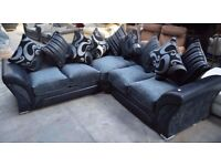 New Shannon sofa 3+2 seater in Grey/Black colour