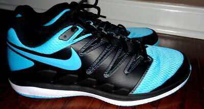a4c9b8449848 NIKE Court Air Zoom Vapor X Tennis Shoes Black Gamma Blue Men Sz 11.5  AA8030-003