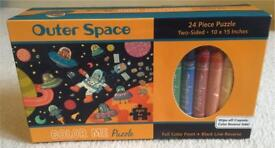 Outer Space Colour Me puzzle