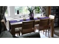 Solid Wood Dinning Table & 4 Chairs