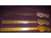 Fender , Squier Style Precision Bass Guitar Necks.