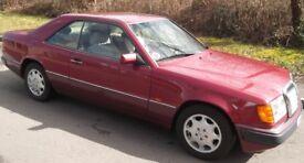 Mercedes Benz 220CE. 124 Series 1993 original classic almandine red. Solid rust free.