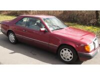 Mercedes Benz 220CE. 124 Series 1993 original almandine red. Solid rust free.