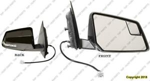Door Mirror Power Passenger Side Heated With Signal Manual Folding Chevrolet Traverse 2009-2013