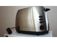 New John Lewis 2-Slice Toaster in Silver