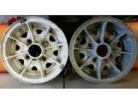 Classic mini alloy wheels Dunlop