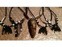 13 Kenyan Handmade cowbone necklaces