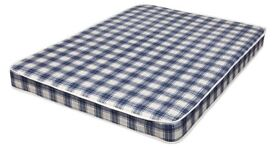 Brand New Comfy 4ft6 Padded Spring Mattress in Blue FREE delivery